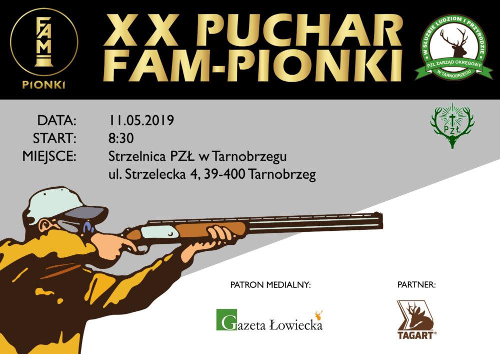 """XX Puchar FAM-PIONKI"""" 11.05.2019 r. Strzelnica PZŁ w Tarnobrzegu."""