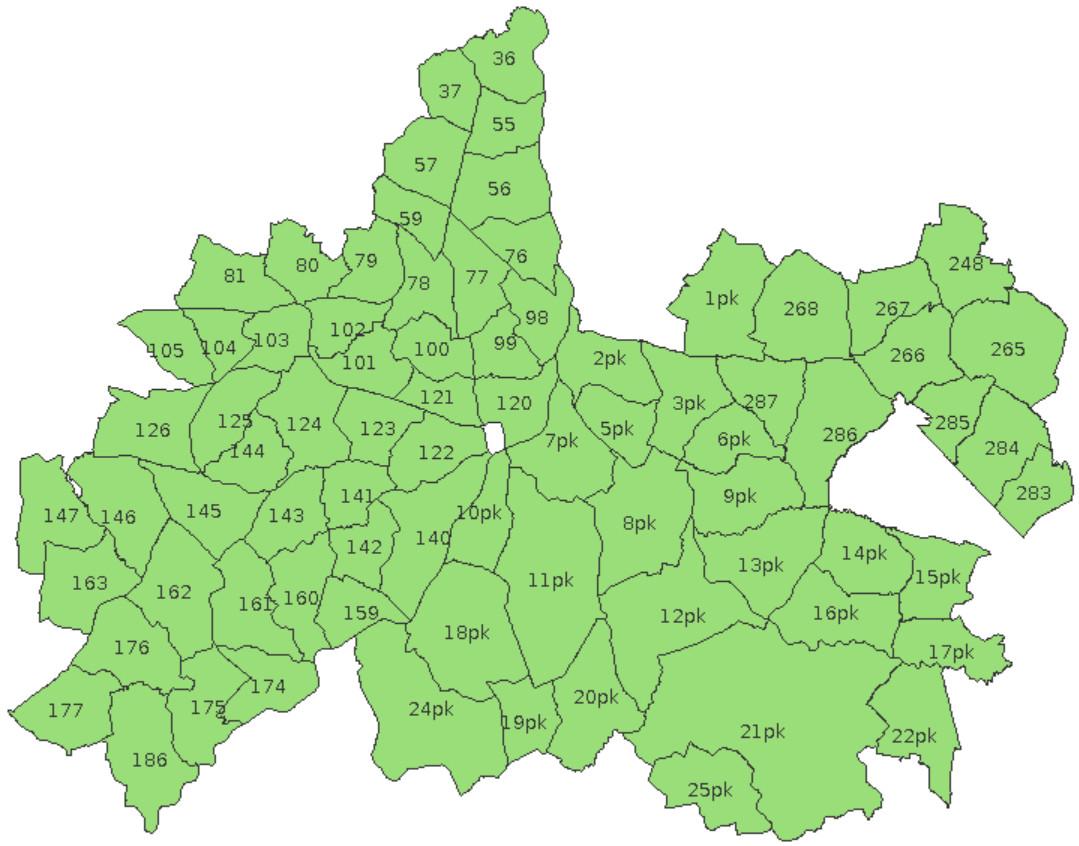 Mapa Obwodow Okregu Pzl Tarnobrzeg Pzl Tarnobrzeg