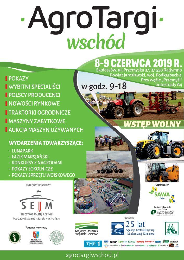 Agro-Targi Wschód 8-9 czerwca 2019 r.