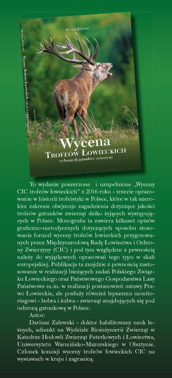 Wycena trofeów łowieckich, autor Dariusz Zalewski.