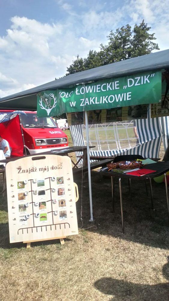 """Dni Zaklikowa z kołem łowieckim """"Dzik""""Zaklików i klubem dian Wadera."""
