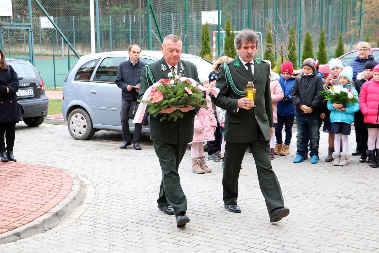 """Koło łowieckie """"Nadwiślańskie"""" w Radomyślu nad Sanem uczestniczyło w obchodach 101 rocznicy odzyskania niepodległości."""