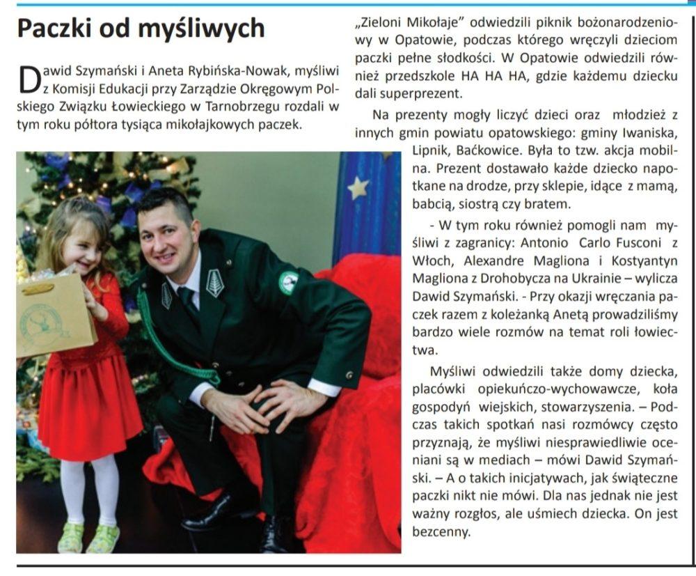 📯👍Kurier Opatowski, wydanie luty 2020 r., kolejny artykuł o myśliwych📯👍
