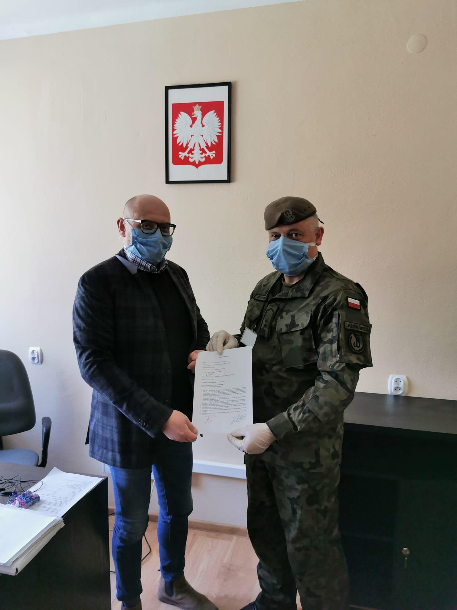 """Koło łowieckie """"Sygnał"""" Nisko wspiera walkę z COVID-19."""