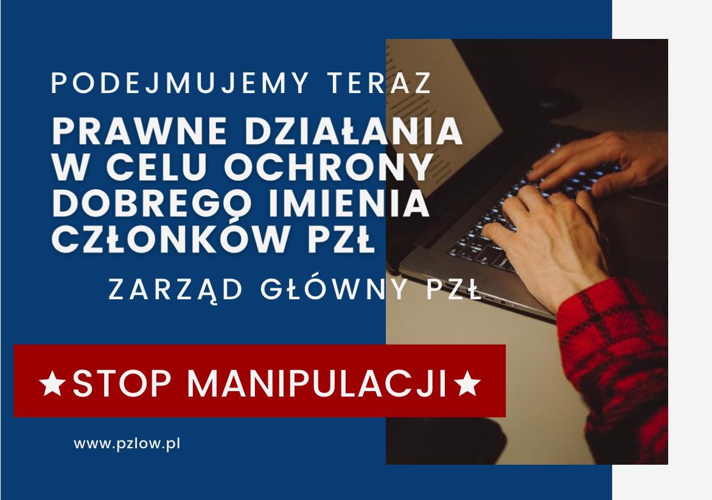 Polski Związek Łowiecki wzywa do sprostowania nieprawdziwych informacji.